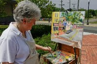 Pam Coulter at Plein Air workshop